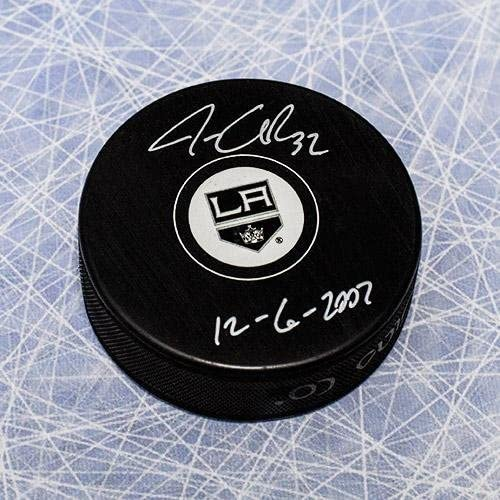 Jonathan Quick Los Angeles Kings Signed & Dated 1st NHL Game Hockey Puck - Autographed NHL Pucks