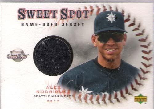 Alex Rodriguez -ss/3b- (mariners) 629 Hr's, 2,775 Hits.302 Avg. 2001 Upper Deck Game Used Jersey - Baseball Cards