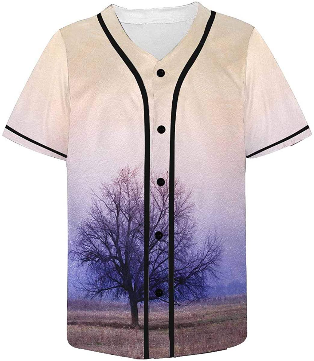 INTERESTPRINT Men's Halloween Baseball Jersey T Shirts