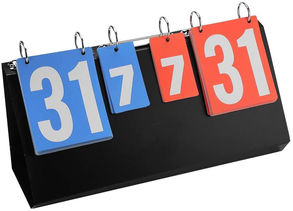 idalinya Portable 4-Digit Sports Scoreboard Competition Score Board Scoreboard for Any Sport: Basketball Football Baseball and More