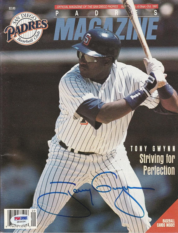 Tony Gwynn Signed Auto'd Sep/oct 1991 Program Psa/dna Coa Padres Hof - Autographed MLB Magazines