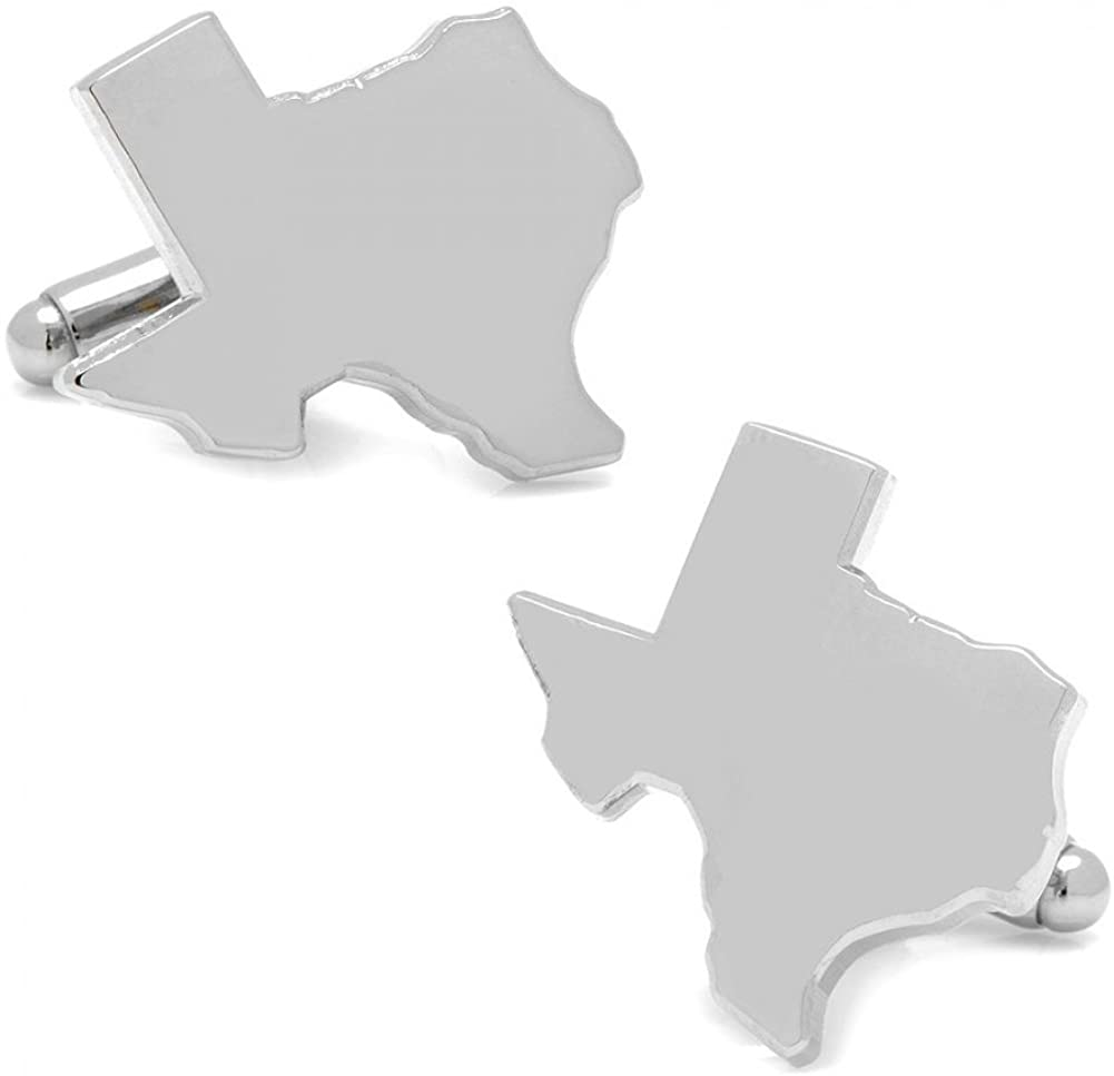 Cufflinks Silver Texas State Shape Cuff Links by Inc