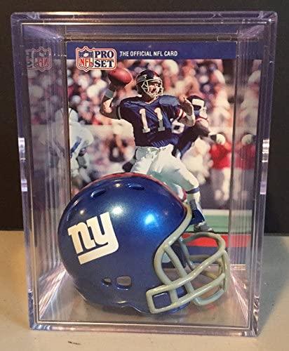 New York Giants NFL Helmet Shadowbox w/ Phil Simms card