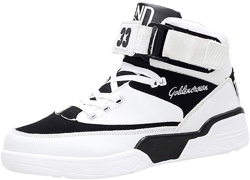 VonVonCo Fashion Men's Breathable High-Top Sneakers Slip Wear-Resistant Basketball Shoes
