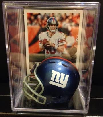 New York Giants NFL Helmet Shadowbox w/ Eli Manning card