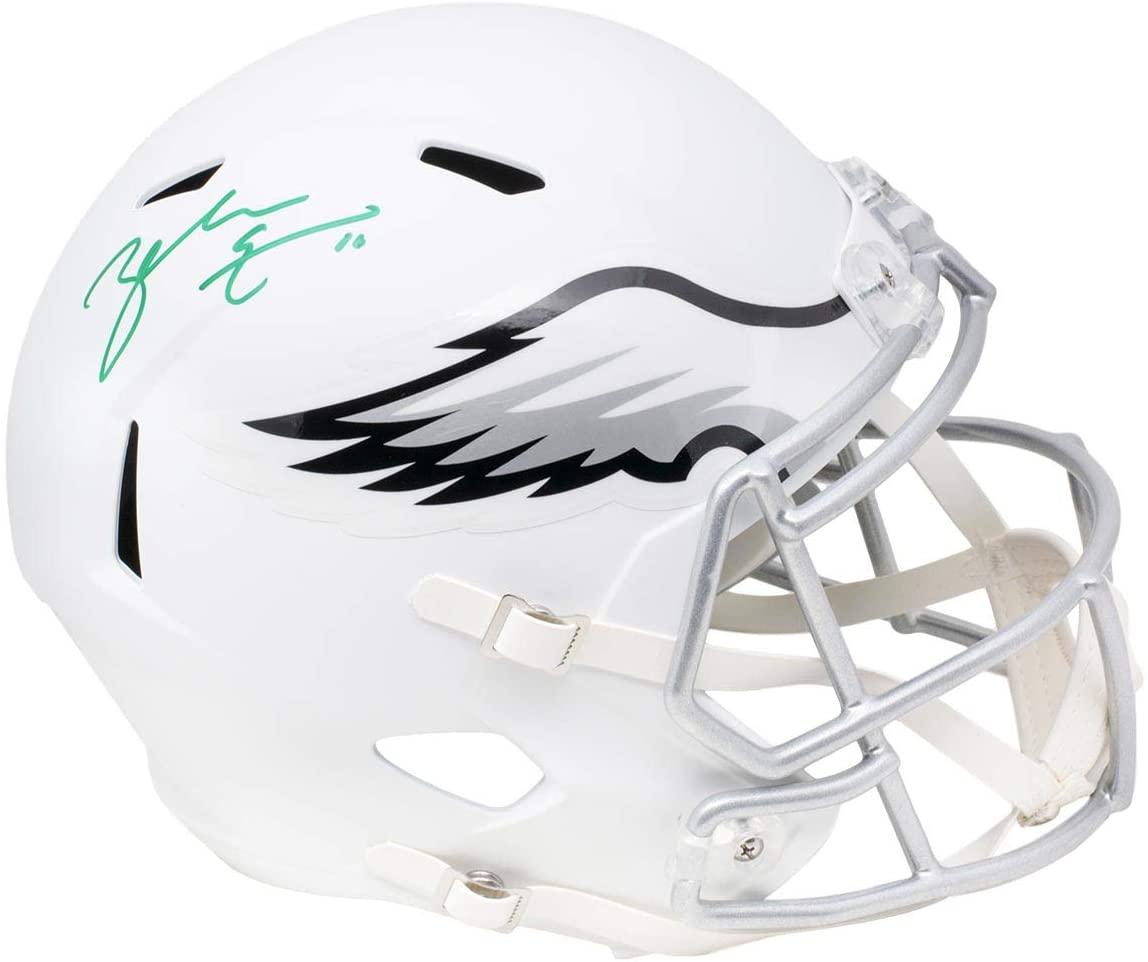 Zach Ertz Philadelphia Eagles Signed Full Size White Matte Speed Replica Helmet Ertz Hologram SI