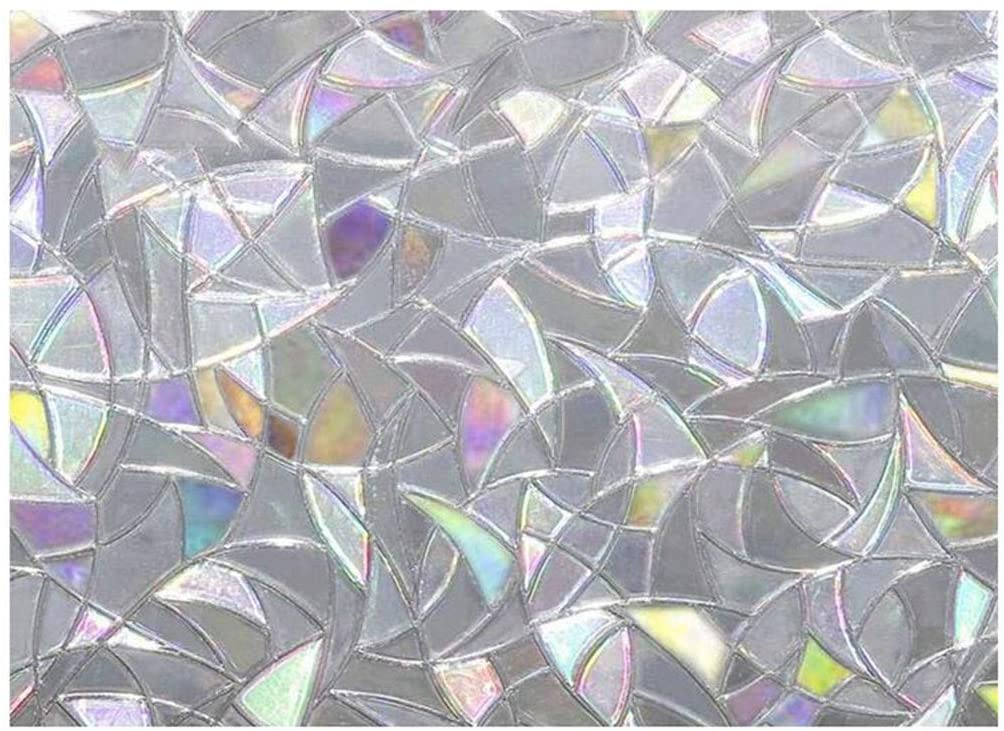 Fasclot Rainbow Reflective 3D Window Film Decor Privacy Static Clings Glass Sticker Tools & Home ImprovementTools & Home Improvement 4th of July Onsale