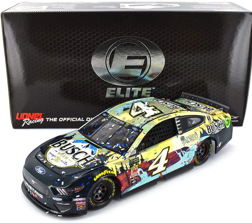 Lionel Racing Kevin Harvick Elite 2019 New Hampshire Win Busch Raced Version Diecast Car 1:24 Scale
