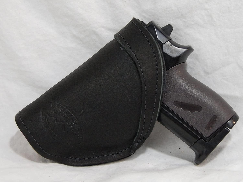 Barsony New Black Leather Inside The Waistband Holster for Mini/Pocket 22 25 380