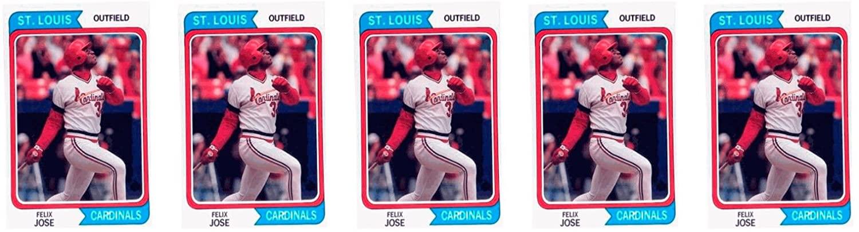 (5) 1992 SCD #39 Felix Jose Baseball Card Lot St. Louis Cardinals