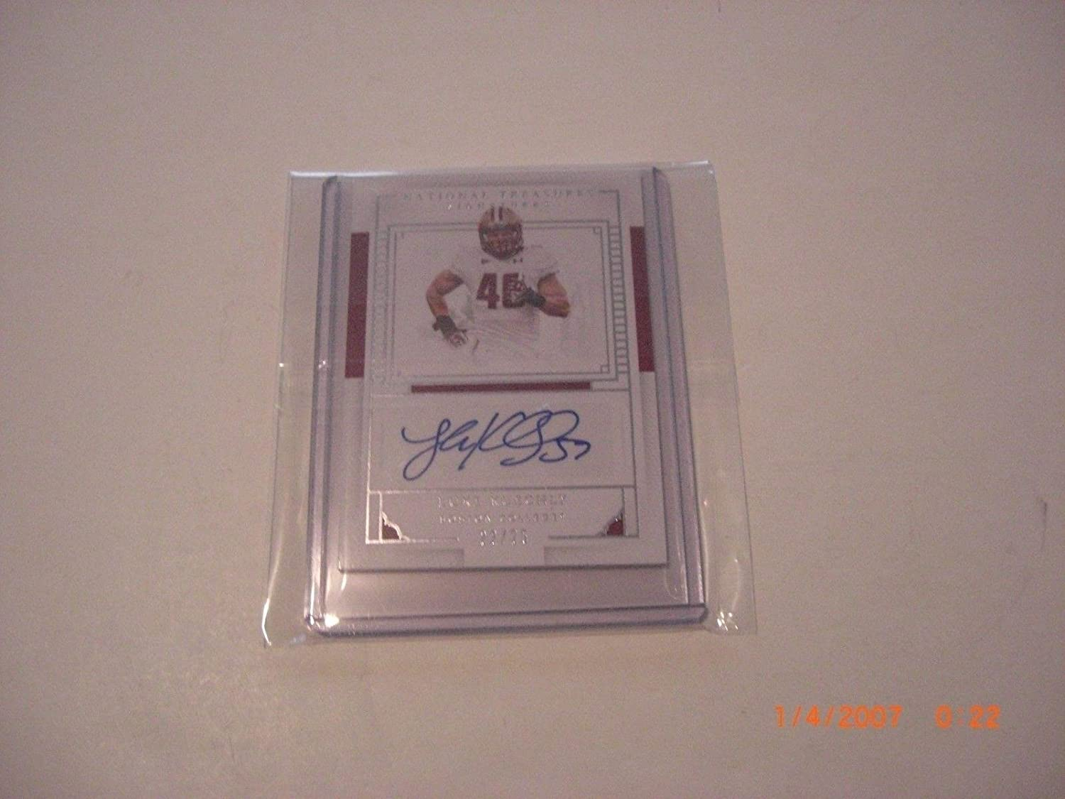 Luke Kuechly Boston College 2016 National Treasures Auto 22/25 Signed Card - Autographed College Cards