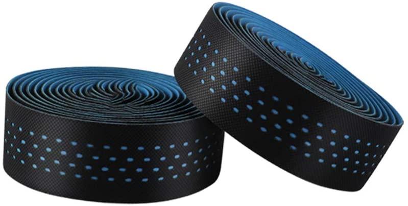 LIOOBO Bike Handlebar Tape Bicycle Grip Tape Anti Vibration Anti Slip Bar Strips Wrap for Bike Bicycle (Black)
