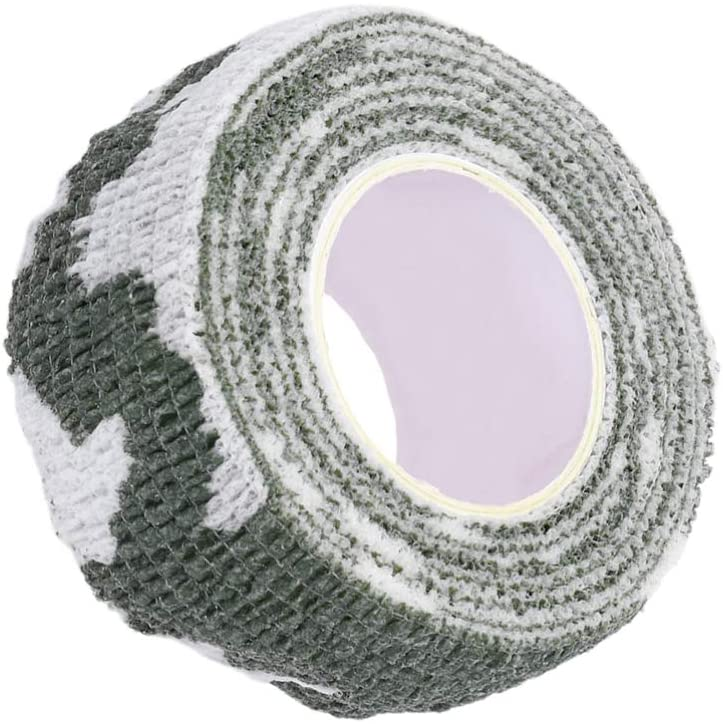 LIOOBO Camouflage Bandage Waterproof First Aid Tape Self Adhesive Elastic Bandage Tape Snowfield Camoufl