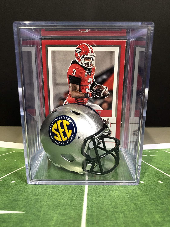 NEW Silver SEC NCAA Helmet Shadowbox w/Todd Gurley card