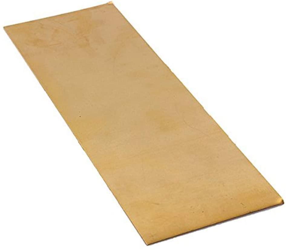 LOKIH Brass Sheet Percision Metals Raw Materials,1.2x300x300mm