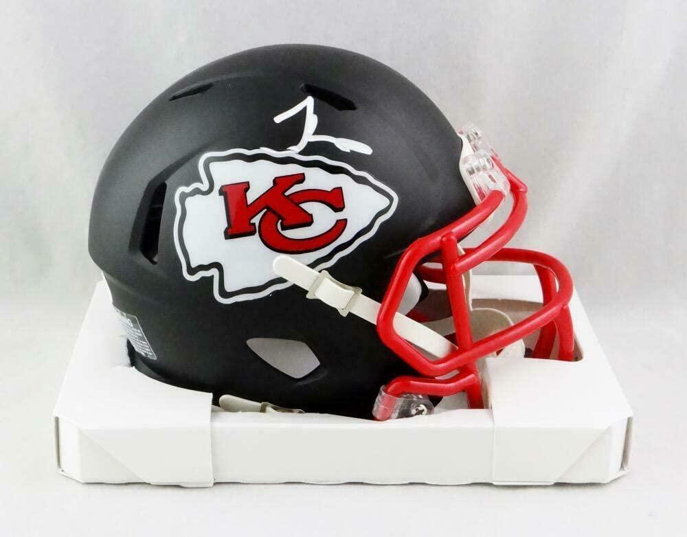 Tyreek Hill Signed Kansas City Chiefs Flat Black Mini Helmet- JSA W Auth - Autographed NFL Mini Helmets