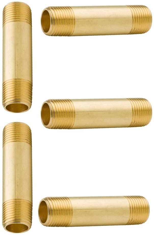Vis Brass Pipe Fittings, Long Nipple, 1/4
