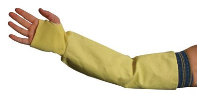 National Safety Apparel Large 9 1/2 Ounce Kevlar® Mesh Cut Resistant Sleeve With Blue Elastic On One End And Kevlar® Knit Wrist (2 Pack)