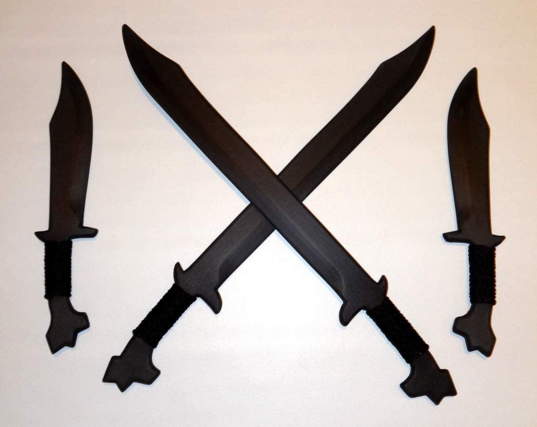 Philippine Bolo Practice Swords Pair Training Filipino Fighter Knives Kali Blade Ronin Set Combo