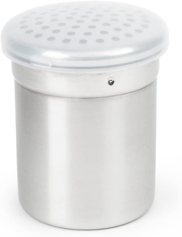 Fox Run Shaker with Large Holes, Stainless Steel, 3.75-Inch