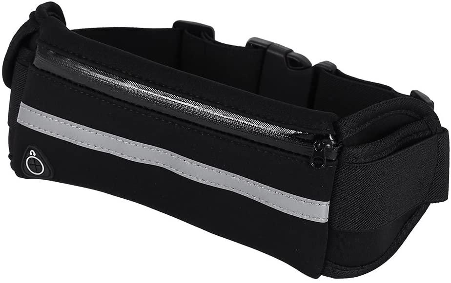 Dilwe Running Bag, Universal Waterproof Fitness Waist Belt Bag Waist Pouch Pack for Running Jogging Cycling