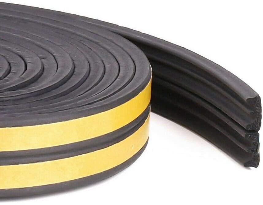 Foam Insulating Strip,5/10M Door Window Draught Excluder Foam Tape Insulating Weather Seal Strip,Brown,E