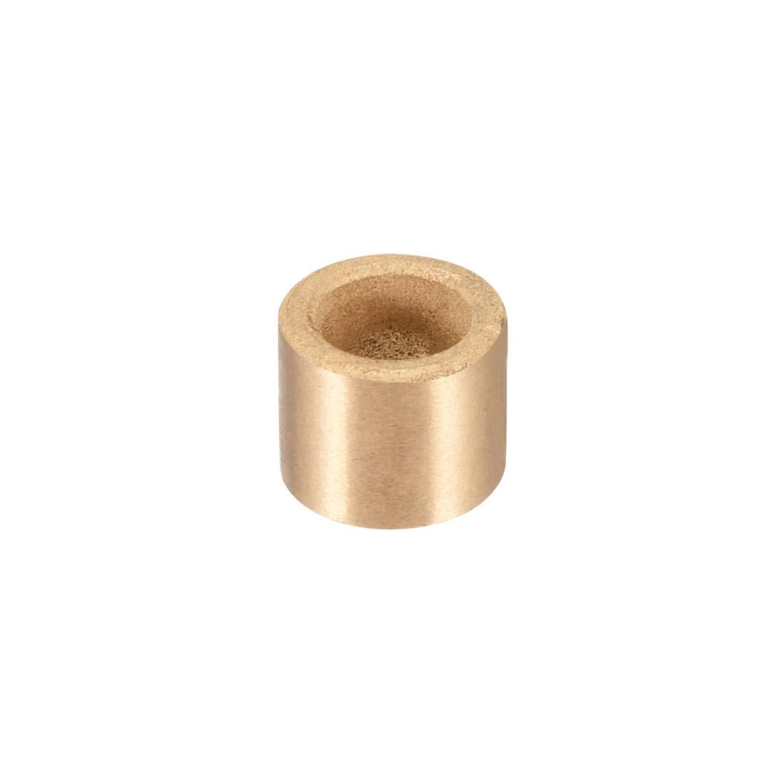 uxcell Bearing Sleeve 8mm Bore x 12mm OD x 10mm Length Self-Lubricating Sintered Bronze Bushings