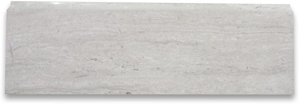 Stone Center Online Athens Silver Cream Haisa Light White Wood Vein Marble Baseboard Trim Molding 4