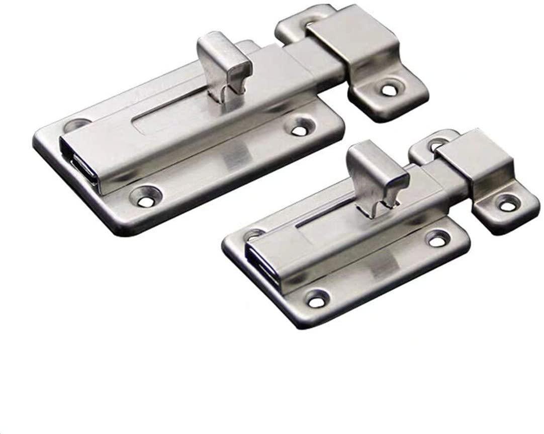 XYY Stainless Steel Door Latch Sliding Lock Barrel Bolt Stainless Steel Door Bolt Sliding Lock Latch Barrel Bolt2PCS (3