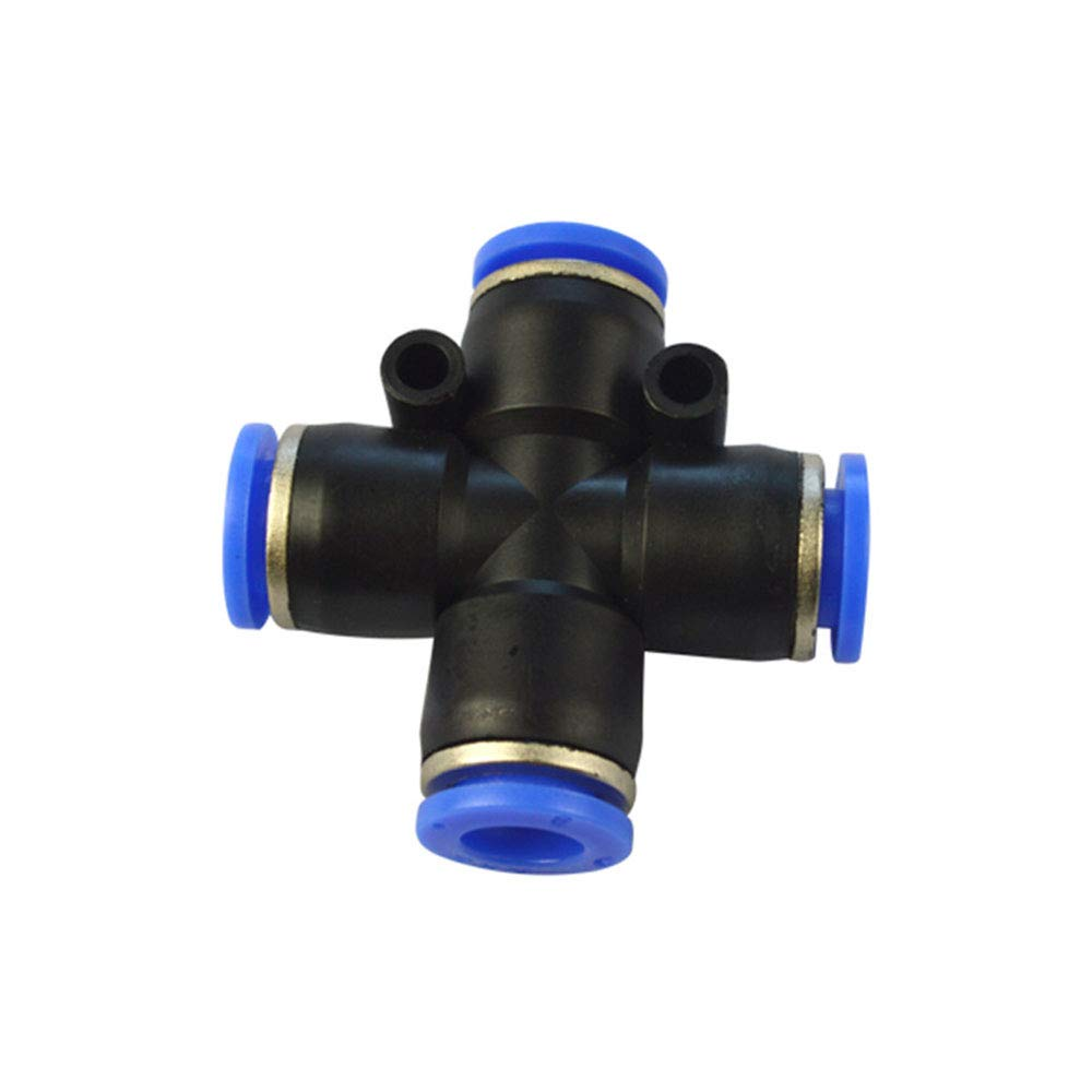Avanty Plastic Push to Connect Tube Fitting, Cross Union, Intersection W/4 Openings, 4mm OD (Pack of 5)