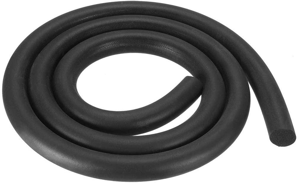 uxcell Foam Rubber Seal Weather Strip 13mm Diameter 1 Meter Long Black