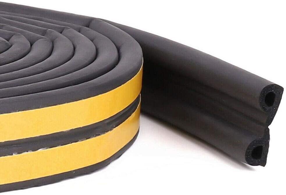 Foam Insulating Strip,5/10M Door Window Draught Excluder Foam Tape Insulating Weather Seal Strip,Grey,P
