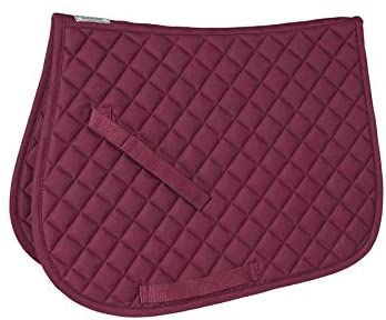 Dover Saddlery Pony Quilted Square Pad, 20 x 17 inches, Burgundy