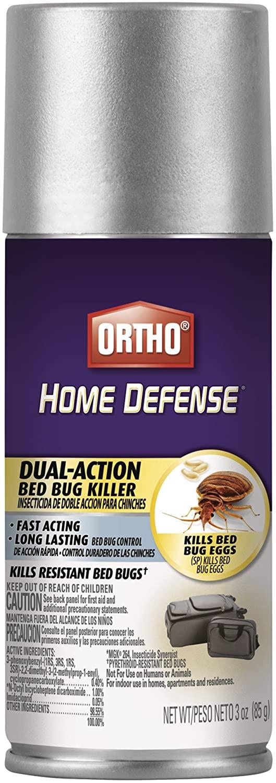 Ortho Home Defense Dual-Action Bed Bug Killer (Travel Size), 3 oz.