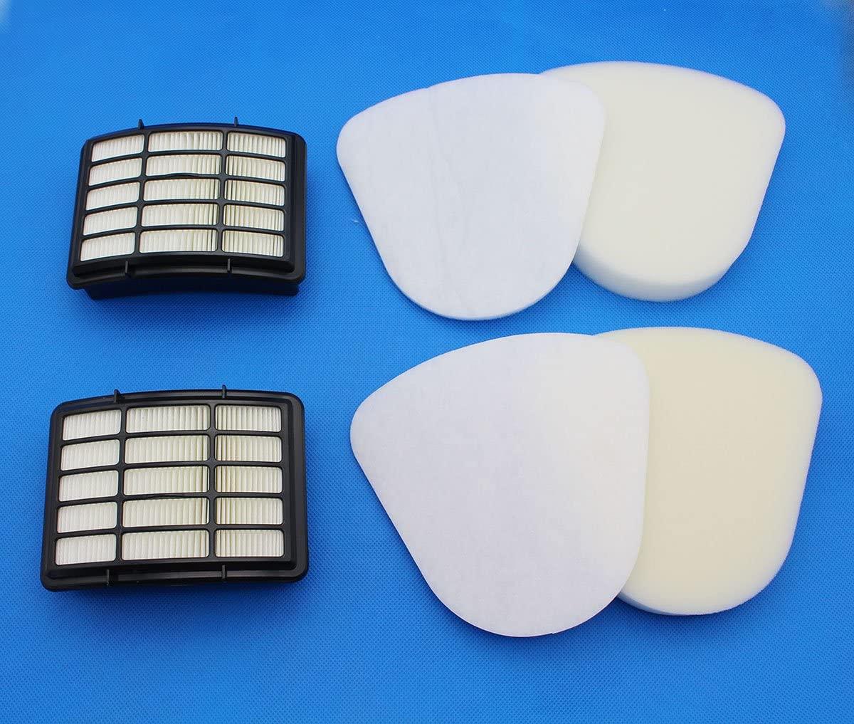 Raogoodcx Shark Navigator Lift Away Filter Nv350 Xff350 Xhf350 Sets, Fits Nv351, Nv352, Nv355, Nv356, Nv357, 2 Pre-Filter Foam & Felt and 2 Hepa Filter