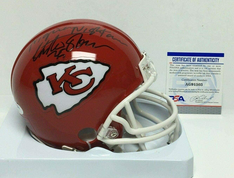 Christian Okoye Signed Kansas City Chiefs Mini-Helmet
