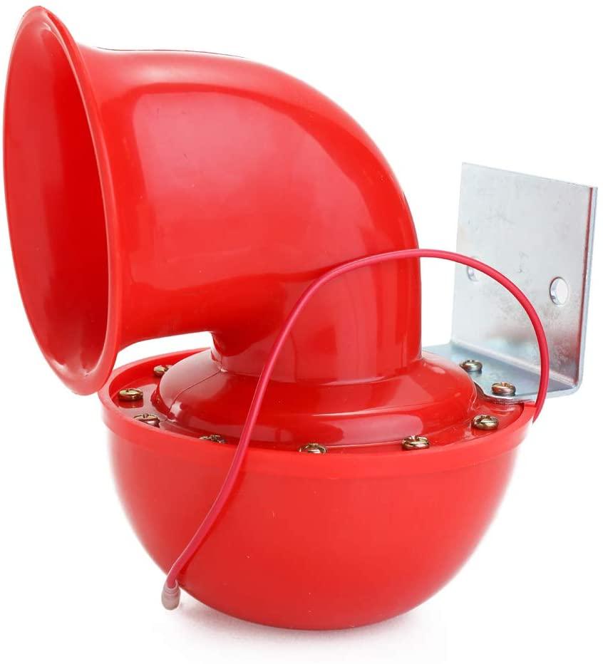 KKmoon Super Loud Horn, 200DB 12V Red Electric Bull Horn, Air Horn Raging Sound for Car Motorcycle Truck Boat