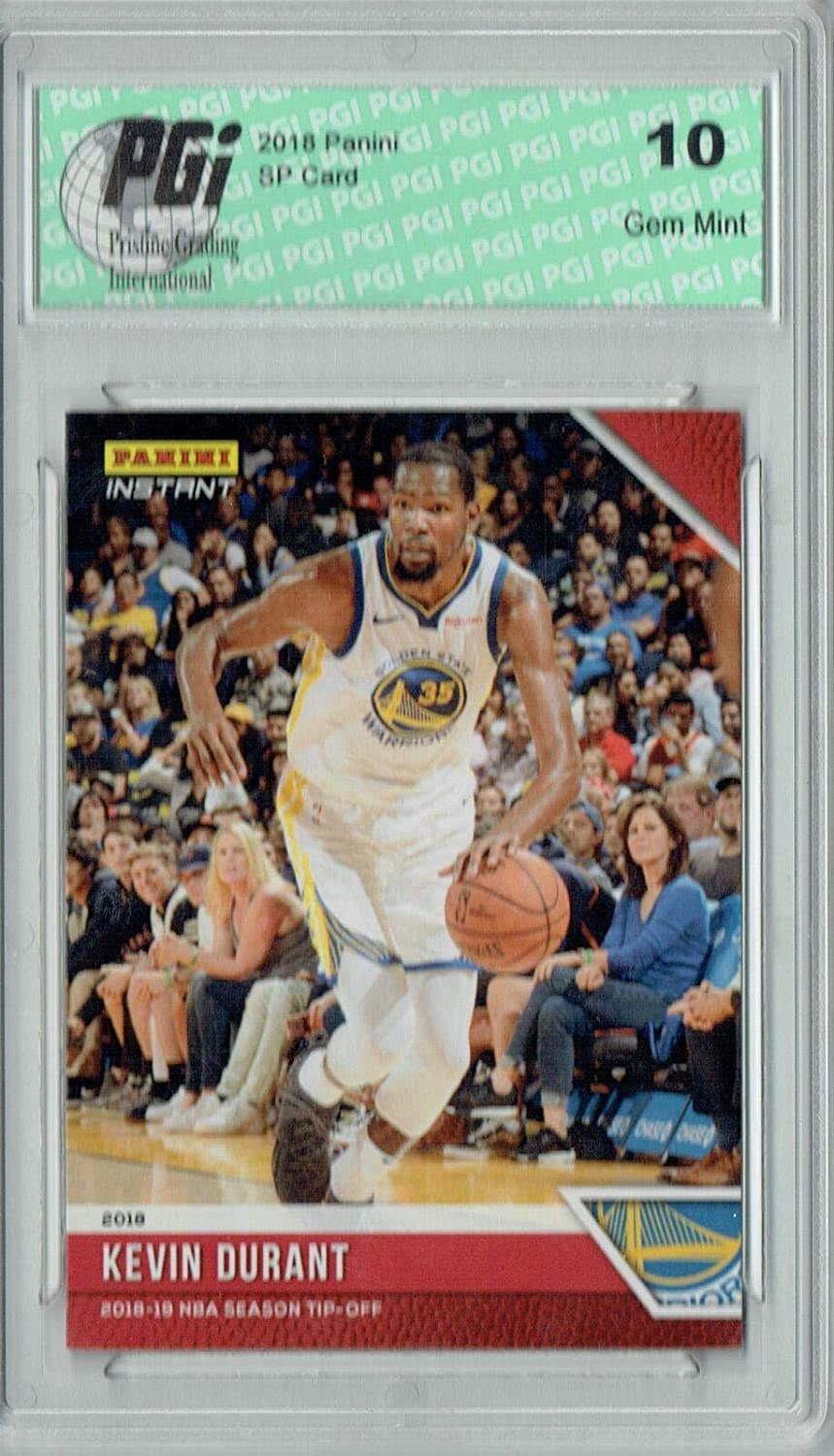 Kevin Durant 2018 Panini Tip-Off #5, 1 of 330 Made SSP Card PGI 10 - Unsigned Basketball Cards