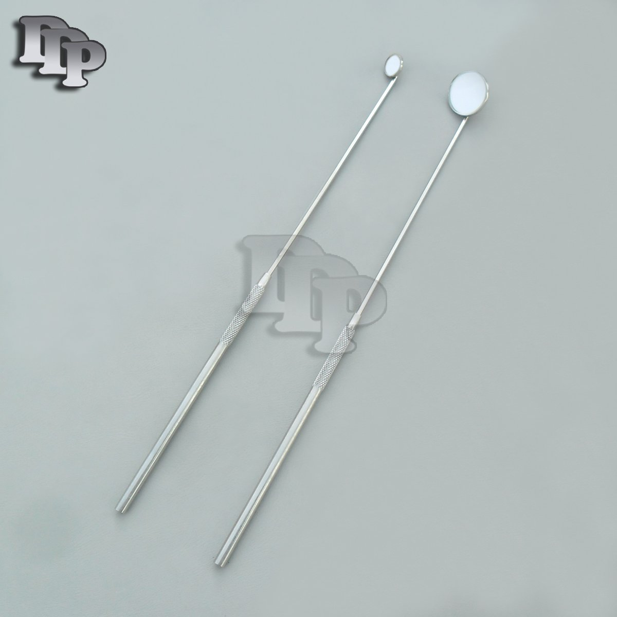 Set of 2 LARYNGEAL BOILABLE Hygiene Dental Mirrors with Handle #0#4 (DDP Quality)