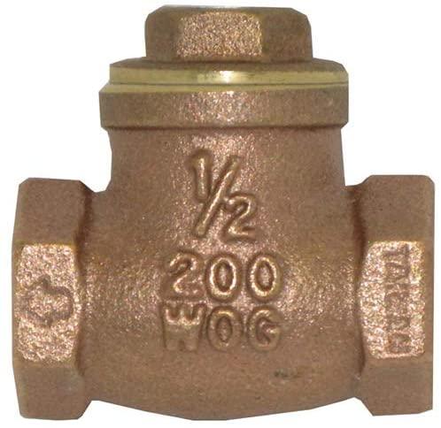Commercial Bronze Check Valve - IB904 Series, Bronze Material, Bronze Disc, 1 in Port Size, 200 psi Maximum Operating Pressure