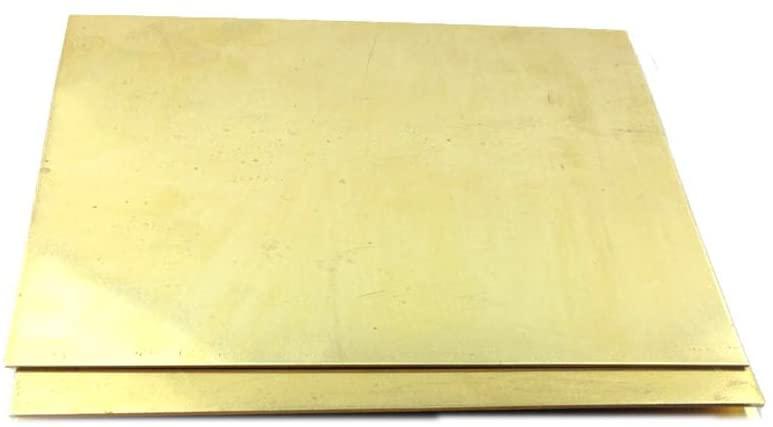 SOFIALXC Brass Foil Copper Sheet Tape Conductive Roll Brass Roll Foil for Metalworking-1mmx160mmx160mm 2pcs