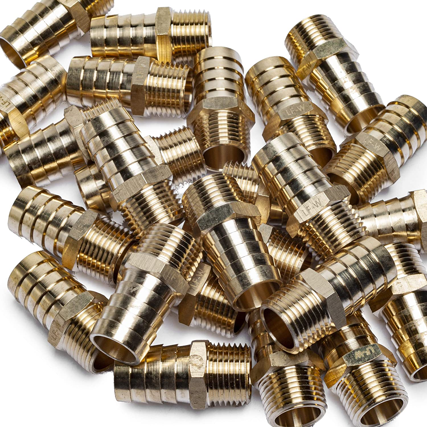 LTWFITTING Lead Free Brass Barbed Fitting Coupler/Connector 3/4