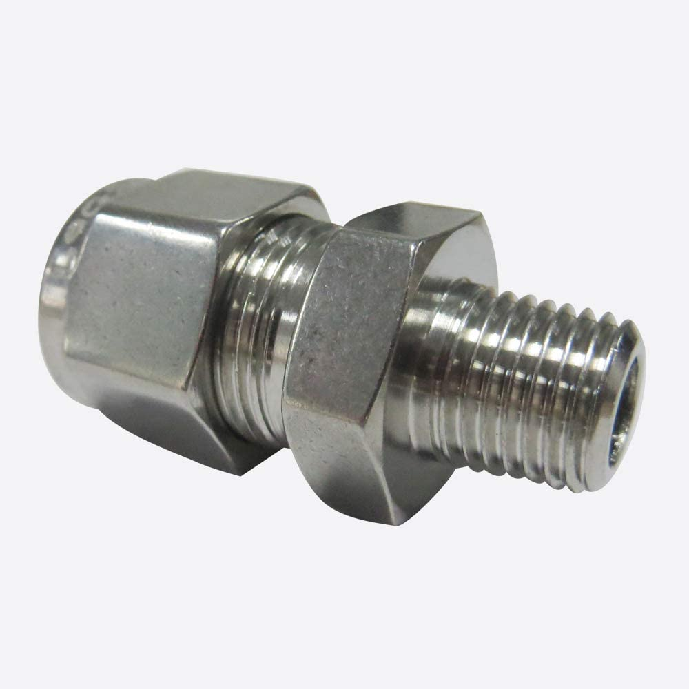 Legines 316 Stainless Steel Compression Tube Fitting, Male Connector, Adapter, 1/4