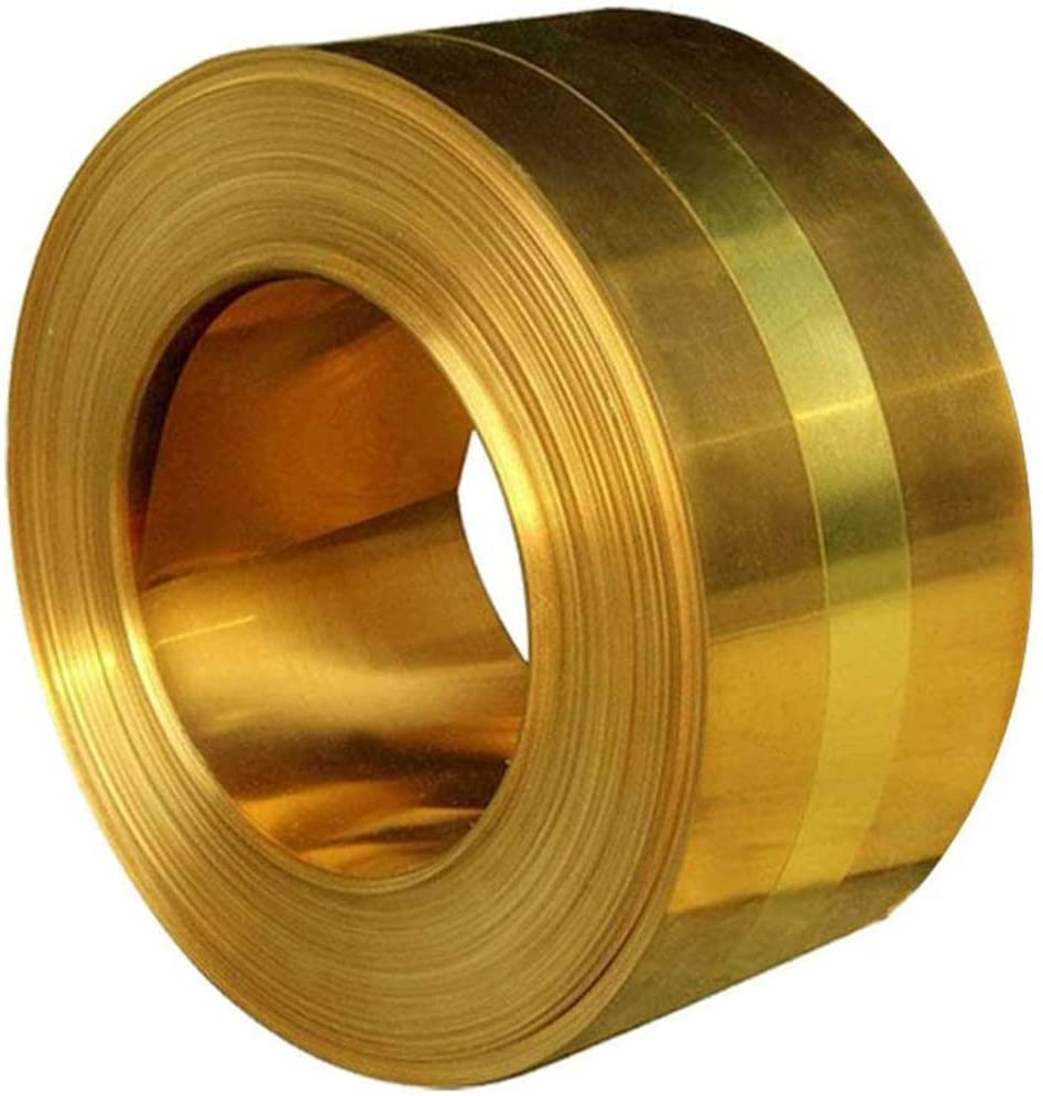 LOKIH H62 Brass Metal Thin Sheet Foil Plate Roll 0.2Mmx100mmx1000mm