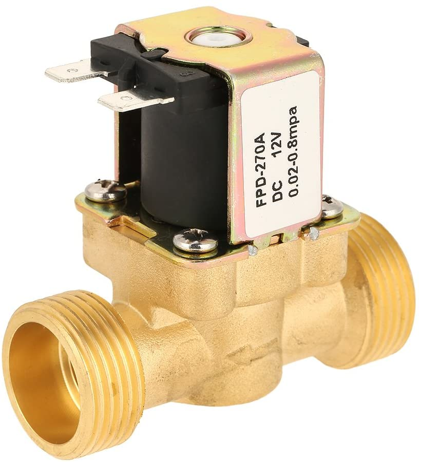 Electric Valve, 1pc DC12V G3/4 Normal Closed Brass Electric Solenoid Valve for Water pneumatic control Solenoid Valve