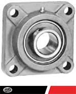 Flange Bearing - 4 Bolt - Set Screw Collar UCF 206-18 with I.D, 1 1/8 and Bolt Size: 3/8, 151523