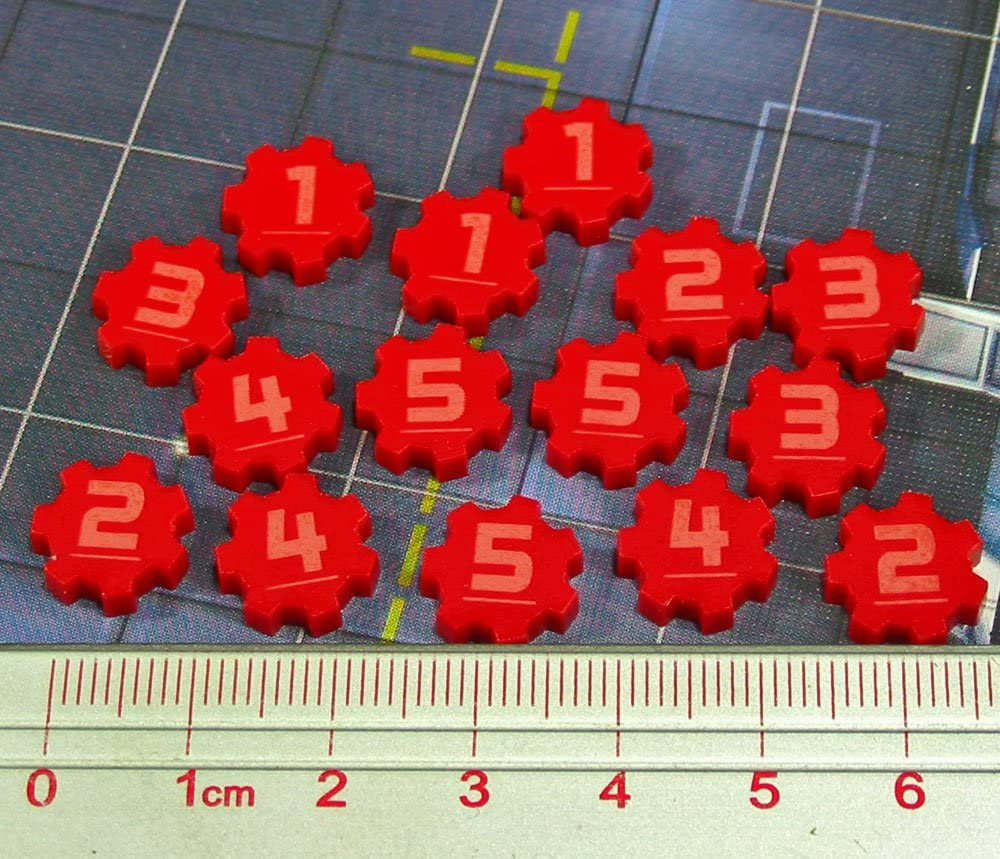 LITKO SW: Assault, Identification Tokens #1-5, Red (15)