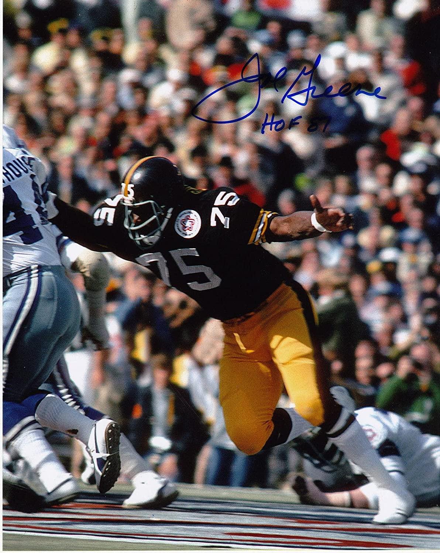 JOE GREENE PITTSBURGH STEELER HOF 87 ACTION SIGNED 8x10 - Autographed NFL Photos
