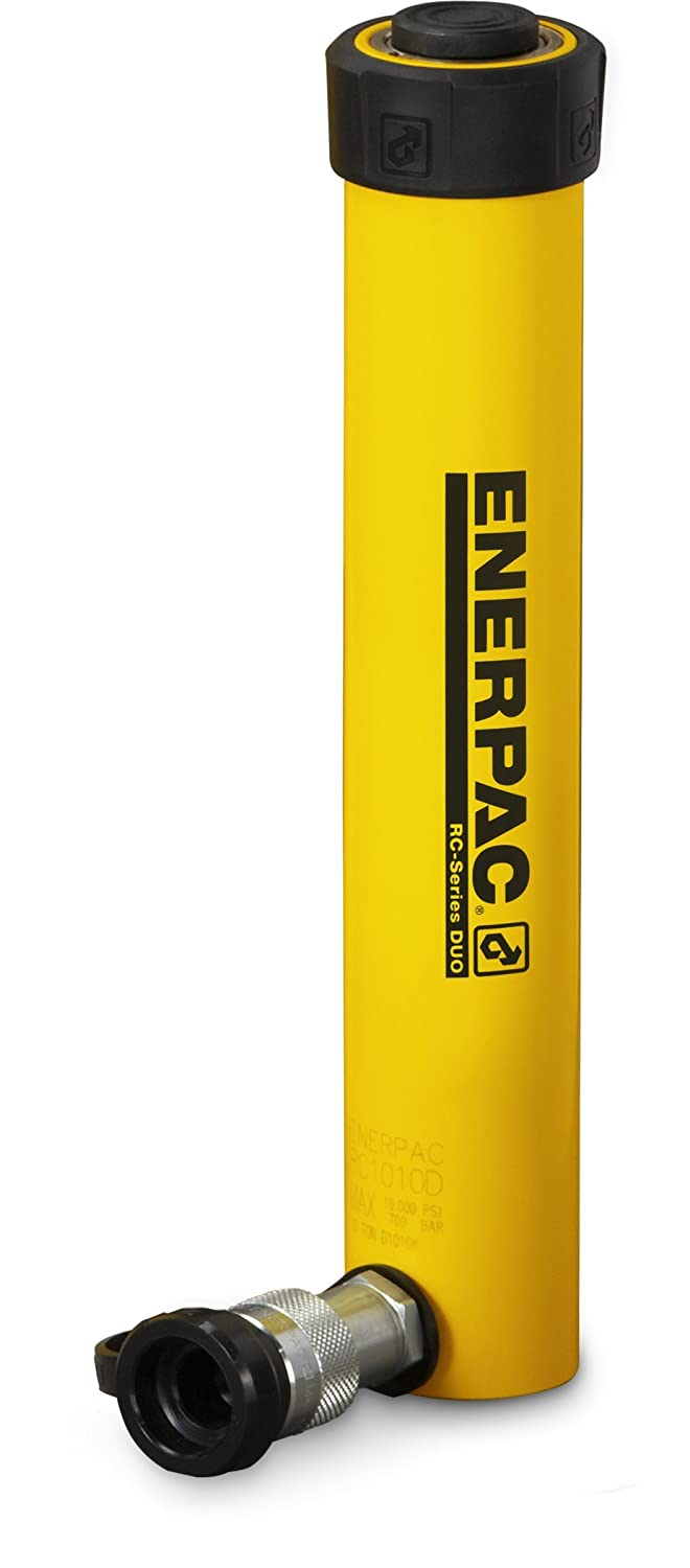 Enerpac RC-151 Single-Acting Alloy Steel Hydraulic Cylinder with 15 Ton Capacity, Single Port, 1