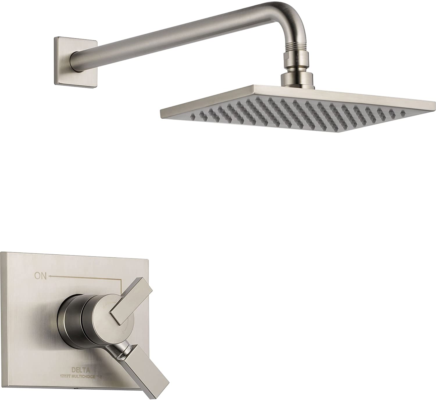 Delta Vero Stainless Steel Finish Temp/Volume Control Shower with Valve D757V